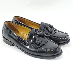 Cole Haan Mens Pinch Tassel Black Leather Loafers